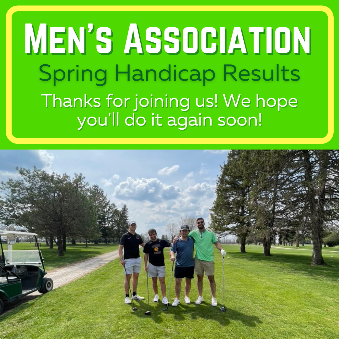 Men's Association Spring Handicap Results